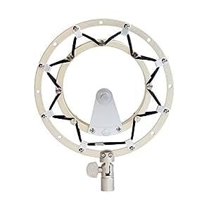 Blue Radius II Pied de microphone Antichoc pour Yeti et Yeti Pro avec Conception de Charnière Améliorée - Argent