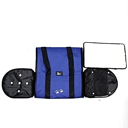 Nestling® Blue Oxford Cloth Pet Carrier Bag Dog Cat Bag Foldable Pet Travel Carrier Ideal for Puppy, Cat, Rabbit and… 6