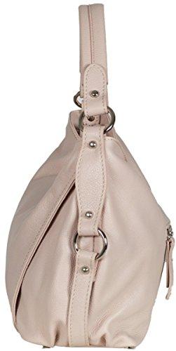 Taschenloft Italienische Damen Schultertasche aus weichem Leder (36 x 23,5 x 11 cm) Rosa