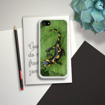 Apple iPhone 5s Housse étui coque protection Salamandre Saurien Reptile Housse en silicone blanc