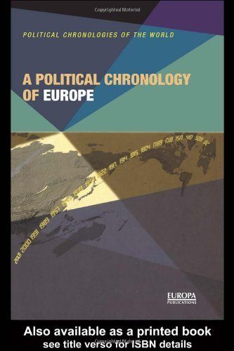 A Political Chronology of Europe (Political Chronologies of the World) by EUROPA PUBLICATIONS