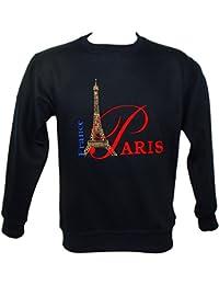 Souvenirs de France - Sweatshirt Brodé 'Paris France' - Bleu