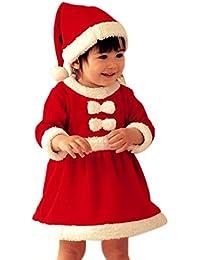 Robes Bebe, Koly 1 Set Filles Enfant BéBé Infantile Chapeaux Du PèRe NoëL Et De NoëL Robe