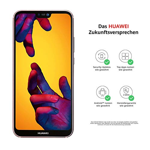 Huawei P20 lite Smartphone BUNDLE (14.83 cm (5.84 Zoll), 64GB interner Speicher, 4GB RAM, 16 MP Plus 2 MP Kamera, Android 8.0, EMUI 8.0) Pink [Exklusiv bei Amazon] - Deutsche Version