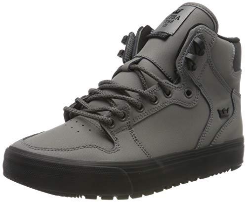 Supra Vaider Cold Weather, Zapatillas de Skateboard Unisex Adulto, Gris Charcoal-Black-M 31, 38 EU