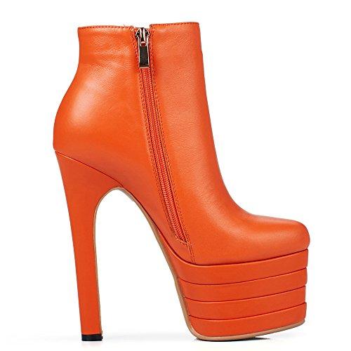 Nine SevenAnkle Bootie - Con Plateau donna Orange