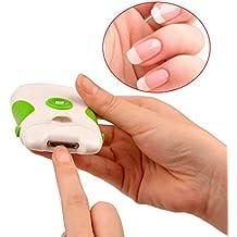 inkint rasoio a unghie tagliaunghie elettrico Lima per unghie a duplice uso per unghie File manicure e pedicure Tovagliette Strumenti a unghie