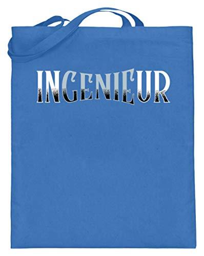 Kleidungskulisse InGenieUr Ideales Geschenk für Ingenieure Diplom Ingenieure Techniker Fachleute Akademiker - Jutebeutel (mit langen Henkeln) -38cm-42cm-Blau