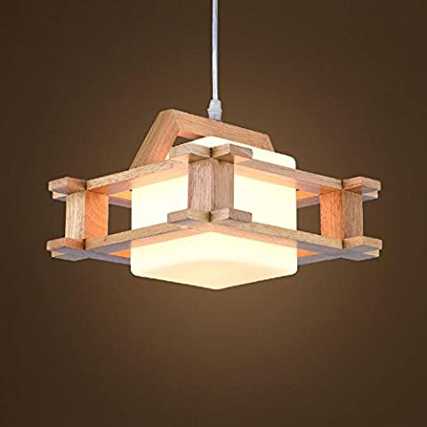 LIGHT Solid Wood Restaurant Chandelier Wood Aisle LIGHTs Single Head Restaurant Teahouse Bedroom Living Room Cafe