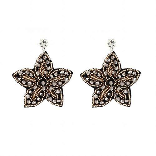 WANGLETA Ohrstecker Ohrhänger Geschenkidee für Frauen reine Blütenblatt Form mit Crystal Panels m Ohrringe Europäischen und Amerikanischen winter Ohr Nagel Ohr Ornamente -