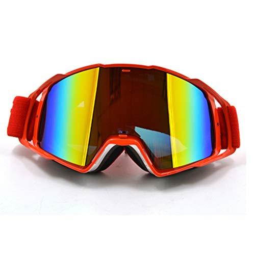 Trend Unisex Skibrille Verstellbar Winddicht Staubdicht Anti-UV Sanddicht Explosionsgeschützte Motocross-Brille Outdoor Sports Geeignet für Helm