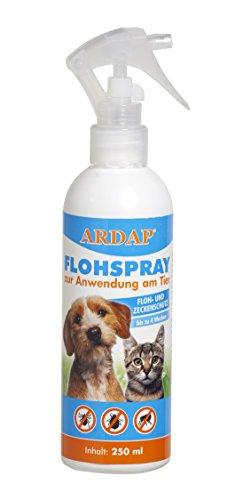 ARDAP Flohspray zur Anwendung am Tier – Mittel zur gezielten Flohbekämpfung von Hunden und Katzen - bis zu 4 Wochen Schutz – 1 x 250 ml