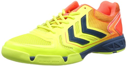 Hummel CELESTIAL COURT X5 60-057-5997 - Scarpe sportive Uomo, Multicolore (Mehrfarbig (Safety Yellow/Firey Coral 5997)), 40.5