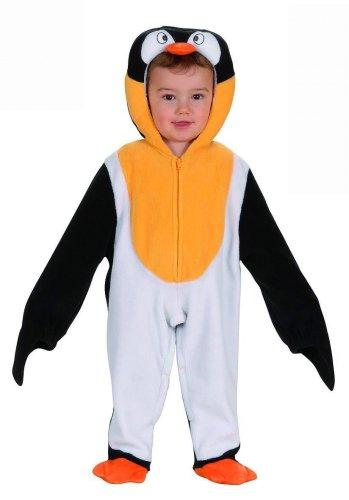 WIDMANN Il Costume Pinguino, 90 cm, 1-2 Anni per Adulti, Bianco/Nero e Giallo, 8003558274307