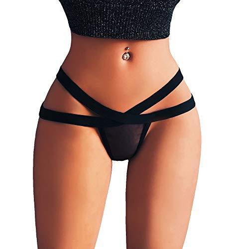 CixNy Damen Dessous,Bequem Frauen Bustier,Sexy Dessous G-String Mesh Slip Unterwäsche Höschen T String Thongs ()