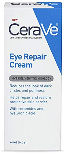 CeraVe Eye Repair Cream   0.5 Ounce   Eye Cream for Dark Circles and Puffiness   Fragrance Free