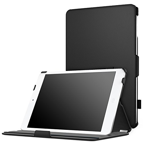 iPad Mini 4 Case, Moko Slim-Fit Multi-angle Folio Cover Case With Auto Wake / Sleep for Apple iPad Mini 4 (2015 edition) 7.9 inch iOS Tablet, BLACK