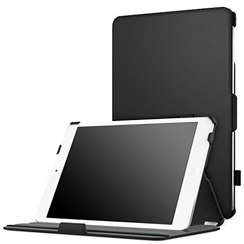 iPad Mini 4 Case, Moko Slim-Fit Multi-angle Folio Cover Case With Auto Wake / Sleep for Apple iPad Mini 4 (2015 edition) 7.9 inch iOS Tablet, BLACK