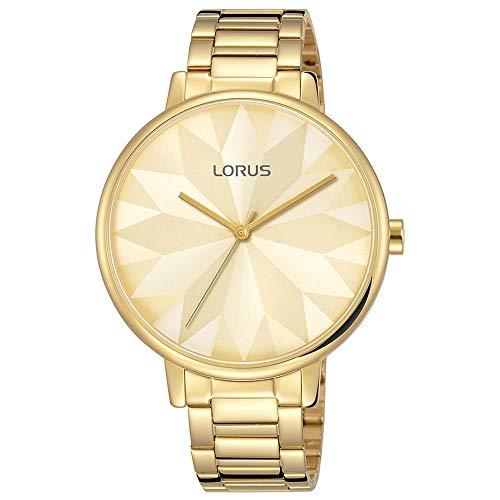 Lorus Femme 36mm Bracelet Acier Inoxydable Doré Quartz Montre RG296NX9