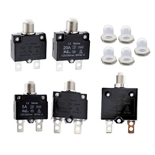 Wassefest Kappe perfk 20A K/ühlschrank Gefrierschrank Kompressor /Überlastschutz Leistungsschalter