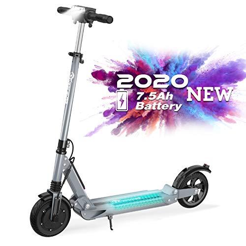 RCB Scooter Eléctrico Plegable Patinete Eléctrico Ultraligero para Adultos y Adolescentes Potente Motor (gris)