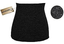 Angora Wolle - schwarz - Nierenwärmer / Bauchwärmer / Rückenwärmer - Größe: Damen Frauen M - ideal auch für Blasenentzündung und Hexenschuss / Rückenschmerzen / Menstruationsbeschwerden