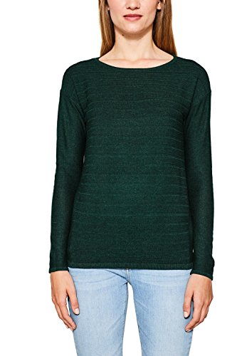 ESPRIT Damen Pullover 087EE1I001, Grün (Bottle Green 5 389), Large