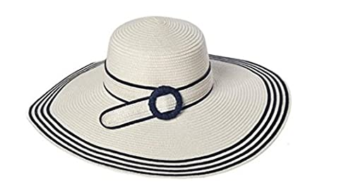 LQABW Frauen-Sommer Sonnenhut Sonnenschutz Faltbare Anti-UV-Dame Groß Entlang Dem Strand-Hut,White