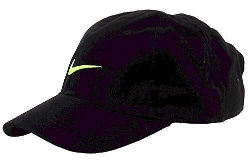 NIKE Toddler Just Do It Sports Hat Adjustable Sun Cap (Black with Volt  Swoosh) 5b7b57acfdcf