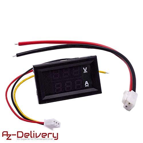 AZDelivery ⭐⭐⭐⭐⭐ Voltmeter Amperemeter Modul DSN-VC288 mit LED Display für Arduino und Raspberry Pi -