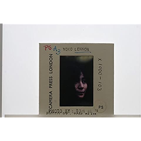 Slides photo of Portrait of Japanese multimedia artist, singer, songwriter, and peace activist Yoko