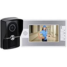 """KKmoon 7"""" TFT Color Videoportero Intercomunicador Timbre Sistema IR Cámara de Seguridad Monitor Manos Libres"""