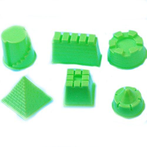 Newin Star Sand Spielzeug Set, 6 Stück Sandspiel Molds Magic Space Sand Zubehör für Kinetic Sand Molds für Kinder ab 3 Jahren (Gebäude)