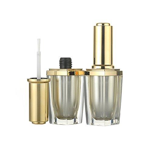 2pcs 10ml 0.34oz vuote ricaricabili upscale Oro Acrilico smalti per unghie Manicure smalto top coat cosmetici Barattoli