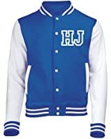 KIDS VARSITY JACKET WITH FRONT INITIAL PERSONALISATION (Royal Blue / White) NEW PREMIUM Unisex American Style Letterman College Baseball Custom Top Boy Girl Children Child Gift Present AWD - By 123t