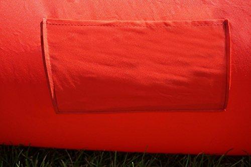air sofa cagusto rot sitzkissen aufblasbar mit r ckenlehne verstellbar air lounger mit kissen. Black Bedroom Furniture Sets. Home Design Ideas