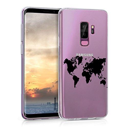 kwmobile Samsung Galaxy S9 Plus Hülle - Handyhülle für Samsung Galaxy S9 Plus - Handy Case in Schwarz Transparent