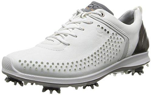 ECCO Scarpe da Donna da Golf - Biom G2 - In Pelle YAK Zarma II Slim - Altro, white/buffed silver, EUR 39