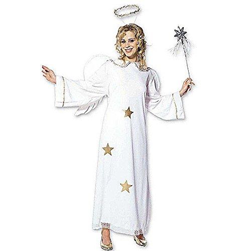Widmann 35113 - Erwachsenenkostüm Sternenengel, Kleid mit Flügel und Heiligenschein, Größe (Erwachsenen Kostüme Weihnachten)