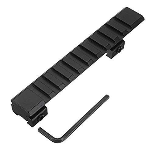 Yongse 125mm Aluminiumlegierung 11mm Schwalbenschwanz auf 20mm Picatinny Weaver Rail Mount Adapter 10 Slots