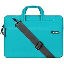XGUO Borsa del Computer Ventiquattrore Sleeve Case per PC portatili da 11-15 Pollici Custodia Morbide per Apple iPad Laptop / Macbook / Matebook / Notebook (13 Grigio, Blu)