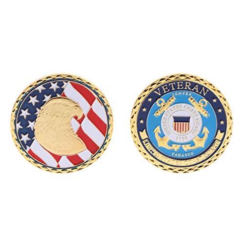 MAZE MA Gedenkmünze US-Küstenwache 1790 Eagle Head Collection Kunstgeschenke Souvenir -
