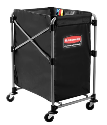 Rubbermaid Commercial X-Cart Folding Cart Frame 150L - Grey (Rubbermaid Groß)