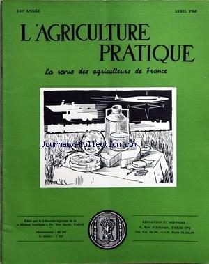 AGRICULTURE PRATIQUE (L') [No 4] du 01/04/1960