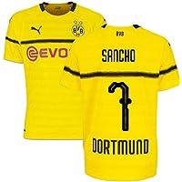 e35243375 2018-19 Borussia Dortmund Home UCL Football Soccer T-Shirt (Jadon Sancho 7