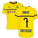 2018-19 Borussia Dortmund Home UCL Football Soccer T-Shirt Trikot (Jadon Sancho 7)