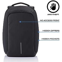 "XD Design Bobby XL 17"" Portátil Mochila Antirrobo Negro con USB (Bolsa Unisex)"
