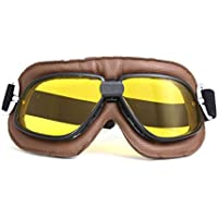 HUWQX Motorrad-Brille und Sand-Beweis-Schutzbrille, 1