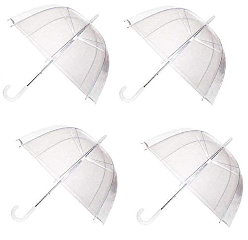 12c817a7eb880 Ram® 4 x Set Rain Umbrellas Dome Birdcage Transparent PVC Wedding Brolly  Clear Bubble Bubble