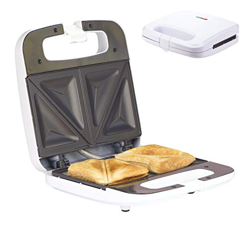 Sandwich Maker Breakfast Sandwich Toaster für 2 American Toasts | Antihaftbeschichtung Heizplatten...